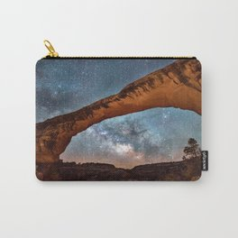 Natural Bridge and the Milky Way in Utah Carry-All Pouch