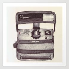 Ballpoint Palaroid Camera Art Print