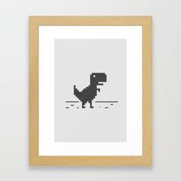 Google Chrome's Dino Framed Art Print