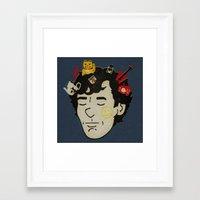 sherlock Framed Art Prints featuring Sherlock by Derek Eads