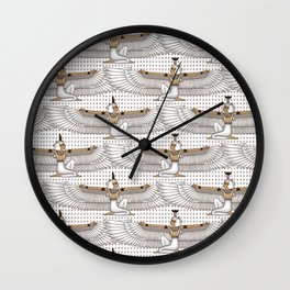 Isis and Nephtys - white Wall Clock