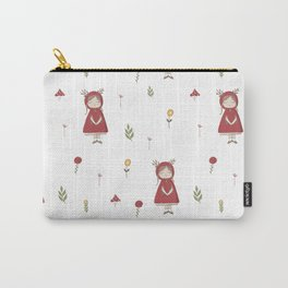 Little Red Riding Hood Girl with Antlers Carry-All Pouch