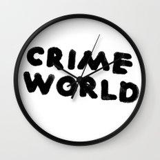 Crime World Logo Wall Clock