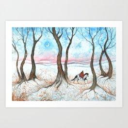 Wintry Scenery Art Print