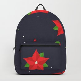 Poinsettia Christmas Pattern Backpack
