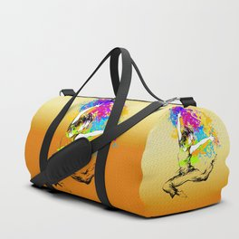 Hip hop dancer jumping Duffle Bag