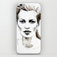 kate moss iPhone & iPod Skins featuring Kate Moss by Anastasia Efthias