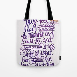 Vlogbrothers- Nowhere Tote Bag