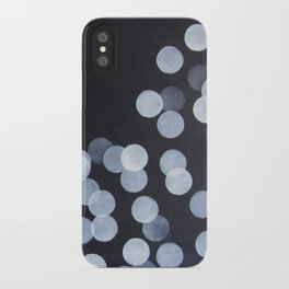 No. 44 - Print of Bokeh Inspired Black and White Modern Abstract Painting iPhone Case