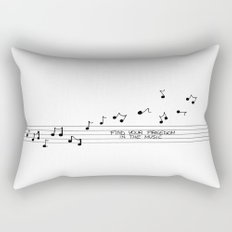 Find your freedom in the music Rectangular Pillow