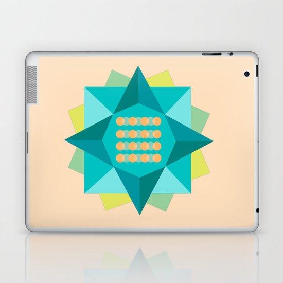 Abstract Lotus Flower - Yoga Print Laptop & iPad Skin