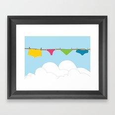 Panties in the sky Framed Art Print