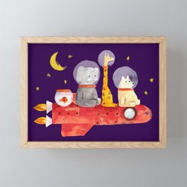 Let's All Go To Mars Framed Mini Art Print