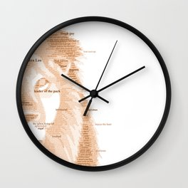 The Regal Type Wall Clock