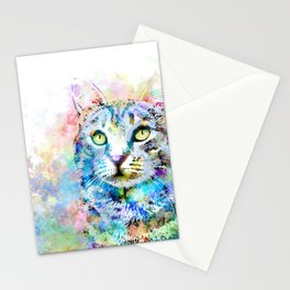 Multicolor Cat 674 Stationery Cards