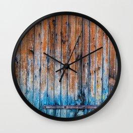 Old Wood Door Wall Clock