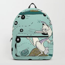 tortoise and the hare skater style Backpack