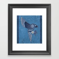 Aboriginal Hawk Wings Attack Framed Art Print