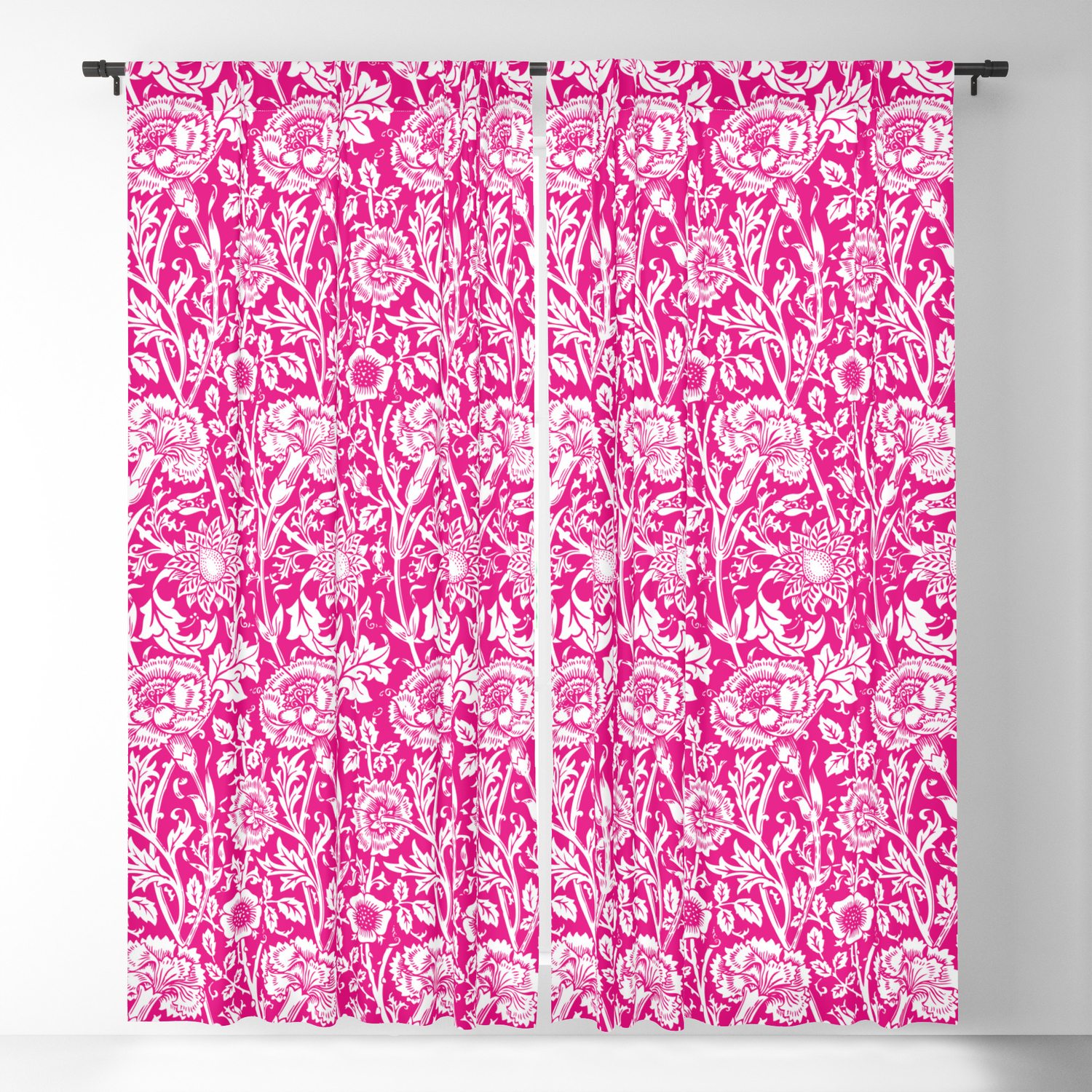 Hot Pink And White Blackout Curtains Review Home Decor