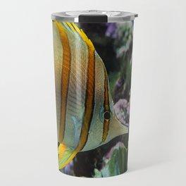 Yellow Longnose Butterfly Fish Travel Mug