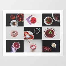 Morning stories - RED set Art Print