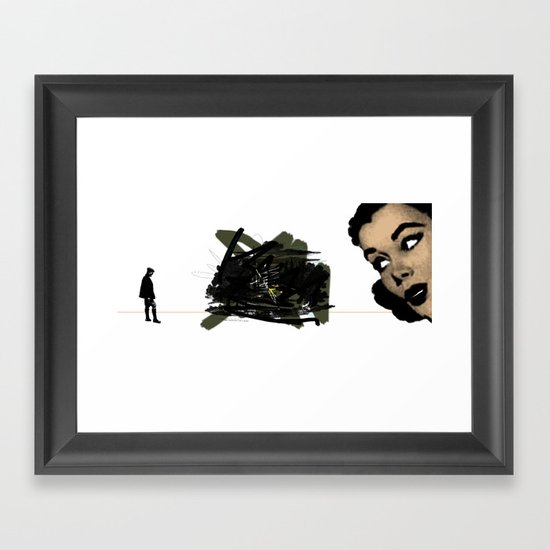 They had both seen the future. And it did not look bright. Framed Art Print