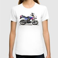 honda T-shirts featuring 1983 Honda CX650TD Turbo by Saddle Bums