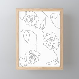 Rose Bush Framed Mini Art Print