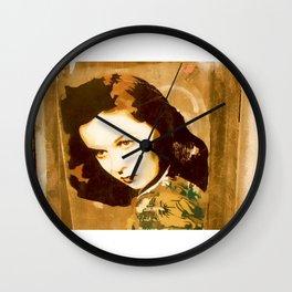 Barcelona Street Art - wall 003 Wall Clock