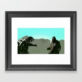 King Kong vs Godzilla Framed Art Print