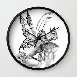 toadstool fairy Wall Clock