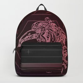 Tribal Raven: Red Backpack