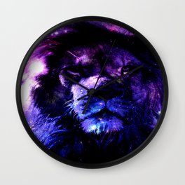 Lion leo purple Wall Clock
