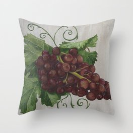 Chianti and Friends Grapes Throw Pillow