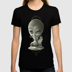 Alien II Womens Fitted Tee SMALL Black