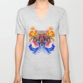 Sacred Elephant Slams Colicky Punks During the Game Unisex V-Neck