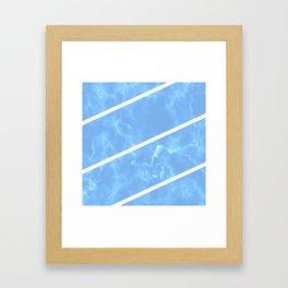 Blue Granite Framed Art Print