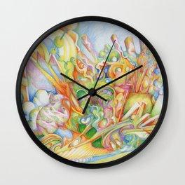 color drop Wall Clock