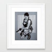 lara croft Framed Art Prints featuring Tomb rider lara croft by calibos