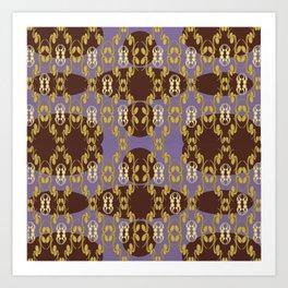 Gold Intricate Design  Art Print