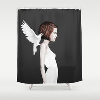 ruben Shower Curtains featuring Only You by Ruben Ireland