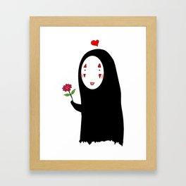 Kaonashi : Be My Valentine Framed Art Print