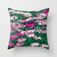 be happy Throw Pillows featuring Happy by Loredana:Flowers