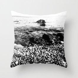 Stones at the sea Throw Pillow
