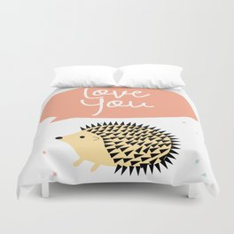 Hedgegog love Duvet Cover