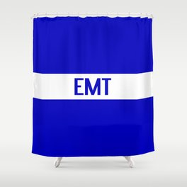 EMT: The Thin White Line Shower Curtain