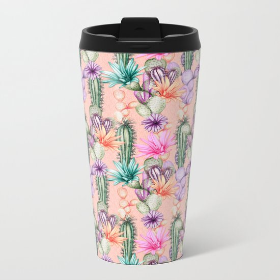 Cacti Love Metal Travel Mug