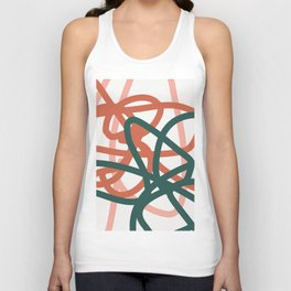 Abstract Lines 01A Unisex Tank Top