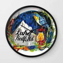 Luke Redfield Bird Mountain Print Wall Clock