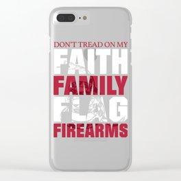 Dont Tread On My Faith Family Flag Firearms Clear iPhone Case